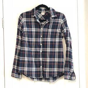 J Crew button up flannel shirt